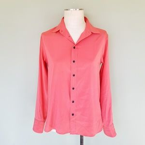 9296dc35dc0f32 rag   bone Tops - Rag   Bone Silk 88 Blouse Button Up Shirt Coral